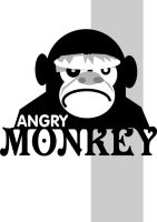 angry monkey by markcrossey