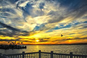 Sunset at Margate 2 by Darci-D-Photography