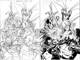 Soulfire 7 cover pencils-inks by 0boywonder0