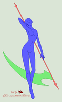Traced Base - Holding a Scythe by D4u-bases
