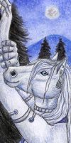 Horse Bookmark by autumnjaguar