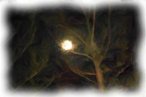 MOON 1 Painting Januaey 2015 by amy-WednesdaysChild