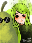 Undercover Pears by Olivienne