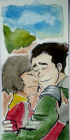 Bolin x Opal watercolour by Rebcebab