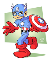 Captain America by BezerroBizarro