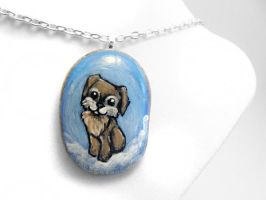 Custom Miniature Schnauzer Pendant Necklace by sobeyondthis