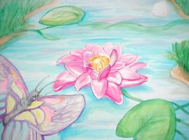Lotus Painting by nonanut