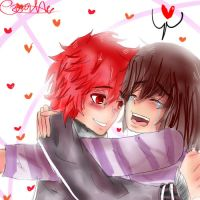 Kisa and Enma 2 by miilitamoon