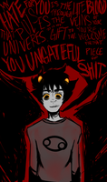 KARKAT SHUT UP by NeverlandCake