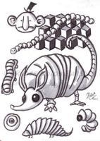 armadillo, man, multilayers by LArtisteInconnu