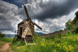 A Wooden Windmill in Belogradchik, Bulgaria by vanesagarkova