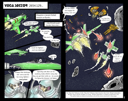first two pages of ongoing wing commander comic by alexvontolmacsy