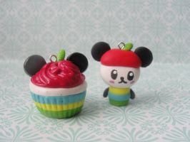 Kawaii Clay Pandapple Set by CraftyOlivia