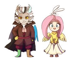 MLP: Discord and Flutters chibis by keterok
