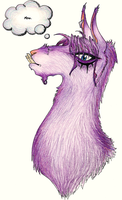 The Purple Mooing Llama by viciousN