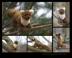Plushie: Mikio the Pine Marten by Avanii