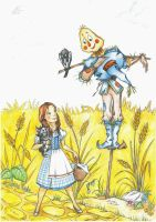 Scarecrow and Dorothy - legends of Oz by Anastasia1995art