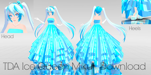 75 watchers gift~! Ice Queen Miku DOWNLOAD by MMDFantasy1126