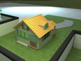 Back view of the bungalow 3d by theseventhshadow
