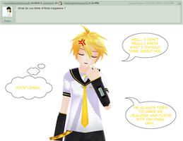 Answer to Question 170 - Kagamine Rinto? by AskKagamineLen02