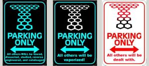 Torchwood Parking Signs by Carthoris