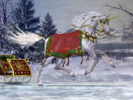 2013 Holiday Unicorn by Daio