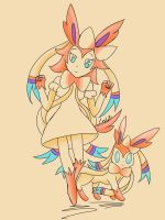 Sylveon Gijinka by Cresselivoir