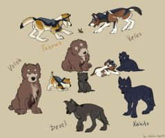Puppies by Kahito-Slydeft