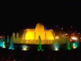 Singing fountains in Barcelona by Darta007