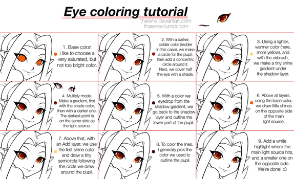 Eye coloring tutorial by Tharene