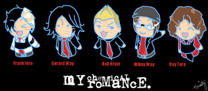 My Chemical Romance Chibis. by TeenTitans-Starfire