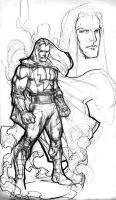 Shazam sketchbook rough by Kevin-Sharpe