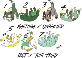 Pair My Breedables Litters 3 - Open by KittehzAdopts