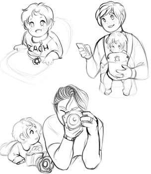 Future awkward teens Plus Baby by GingerQuin