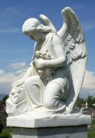 Mount Olivet Cemetery Angel 225 by Falln-Stock