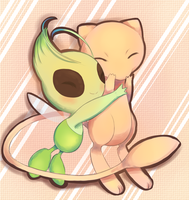 Mew and Celebi by Joltik92