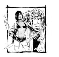 HS sketch card package art by ColtNoble