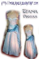 Princess Tianas Blue Ball Gown by MorgaineA