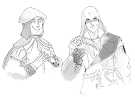 Leo and Ezio by monkeyoo