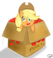 Applejack in Box. by FreeFraQ