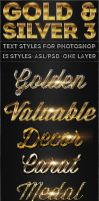 Gold and Silver 3 - Text Styles by ivelt