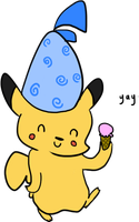 Pika Eating Ice Cream by derpato
