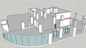Sketchup Work of the 2nd Entryway to the School by tehflah