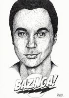 Bazinga Pointillism by Cindy-R