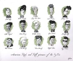 Rock And Roll Pioneers Of The 1950s by gabrio76