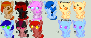 2point pony adopts by TwilightLuv10