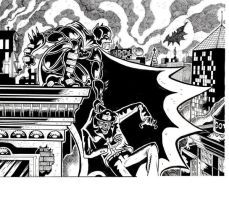 batman and the riddler by davechisholm