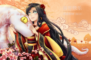 Lunar New Year 2013 by lainey-nesu