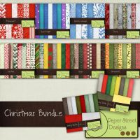 Christmas-paper street designs by paperstreetdesigns