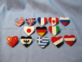 Hetalia Country Pins by kitcat4056